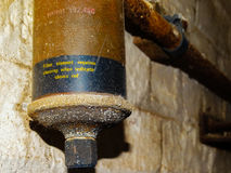 Edificio abandonado - filtro del gas Imágenes de archivo libres de regalías
