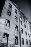 Edificio abandonado, ruina, foto de archivo