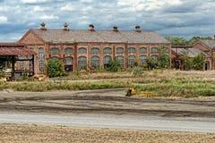 Edificio abandonado viejo de la fábrica fotografía de archivo libre de regalías