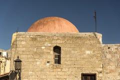 Edificio abovedado en Rhodes Old Town Fotografía de archivo libre de regalías