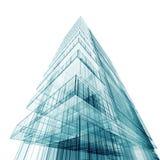 Edificio abstracto contemporáneo ilustración del vector