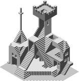 Edificio abstracto del observatorio ilustración del vector