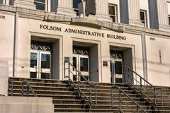 Edificio administrativo de Folsom Fotografía de archivo