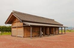 Edificio administrativo del castillo de Shiwa, ciudad de Morioka, Japón imagen de archivo