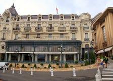 Edificio adornado del hotel de París, Monte Carlo foto de archivo libre de regalías