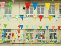 Edificio adornado para el festival Imágenes de archivo libres de regalías