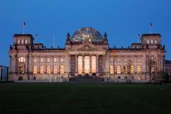 Edificio alemán del parlamento Imágenes de archivo libres de regalías