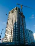 Edificio alto bajo construcción fotografía de archivo