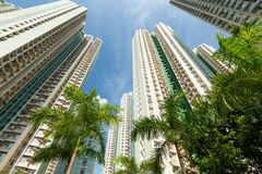 Edificio alto en Hong-Kong Imagen de archivo libre de regalías