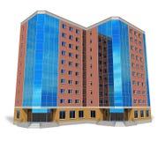 Edificio alto moderno del asunto Imagenes de archivo