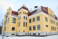 Edificio amarillo Imagen de archivo libre de regalías