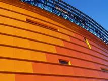 Edificio anaranjado [1] Imagen de archivo libre de regalías