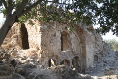 Edificio antiguo, fortaleza de Qaqun, Israel Imágenes de archivo libres de regalías