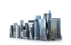 Edificio arquitectónico en la visión panorámica stock de ilustración