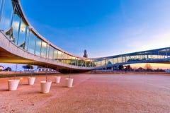 Edificio arquitectónico moderno Foto de archivo libre de regalías