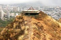 Edificio arruinado en Diamond Head Honolulu Oahu Hawaii imagen de archivo libre de regalías