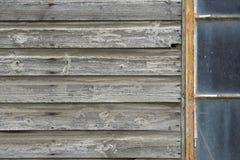 Edificio attiguo di legno abbandonato Fotografia Stock Libera da Diritti