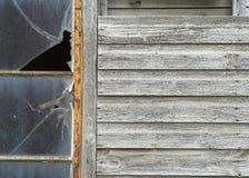 Edificio attiguo di legno in disuso Immagini Stock Libere da Diritti