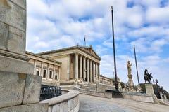 Edificio austríaco del parlamento imagen de archivo libre de regalías