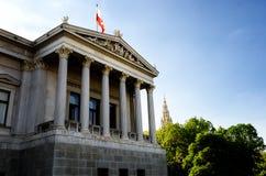 Edificio austríaco del parlamento foto de archivo libre de regalías