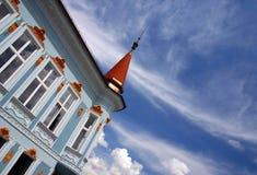 Edificio azul foto de archivo