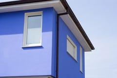 Edificio azul Imagenes de archivo