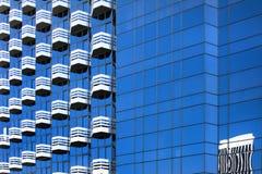 Edificio azul Foto de archivo libre de regalías