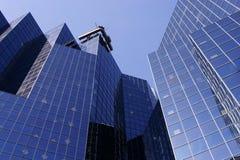 Edificio azul Fotos de archivo libres de regalías