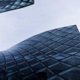 Edificio azul moderno Imagen de archivo