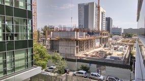 Edificio bajo construcción Imagenes de archivo