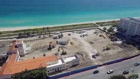 Edificio bajo construcción en Miami Beach metrajes