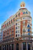 Edificio banco de Valencia en la calle de Pintor Sorolla Fotografía de archivo