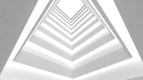 Edificio blanco en un fondo blanco Fotos de archivo