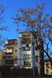Edificio blanco liso en Valencia imagen de archivo libre de regalías