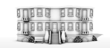 Edificio blanco y negro 0 Imagen de archivo libre de regalías