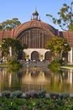 Edificio botánico con reflexiones Foto de archivo libre de regalías