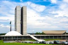 Edificio brasileño del congreso nacional en Brasilia, el Brasil fotos de archivo
