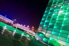 Edificio brillante verde en Austria Imágenes de archivo libres de regalías