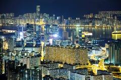 Edificio céntrico apretado en Hong Kong Imagen de archivo