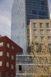 Edificio céntrico del horizonte de Bilbao Imágenes de archivo libres de regalías