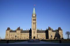 Edificio canadiense del parlamento Foto de archivo