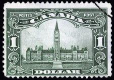 Edificio canadiense del parlamento Imágenes de archivo libres de regalías