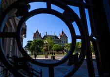 Edificio capital con rallar Albany céntrica NY Fotos de archivo libres de regalías