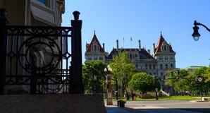 Edificio capital con rallar Albany céntrica NY Imagen de archivo libre de regalías