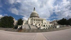 Edificio capital de Estados Unidos, congreso del Washington DC izquierdo granangular metrajes