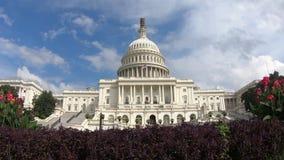 Edificio capital de Estados Unidos, tiro estable del congreso - Washington DC granangular metrajes