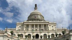 Edificio capital de Estados Unidos, Washington DC del time lapse del primer del congreso almacen de metraje de vídeo