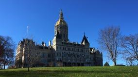 Edificio capital de Hartford Connecticut almacen de metraje de vídeo