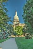 Edificio capital en Lansing Michigan Imagen de archivo