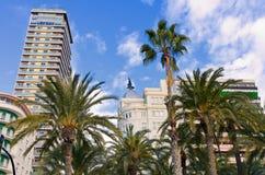 Edificio Carbonell  Building, Alicante, Spain Royalty Free Stock Images